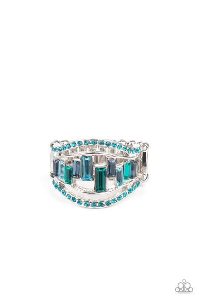Treasure Chest Charm - Blue