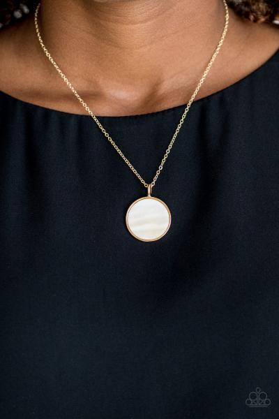 Shimmering Seashores - Gold Necklace